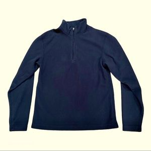 Obermeyer Fleece Black 3/4 zip Base layer Junior L